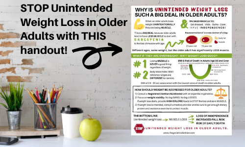 Stop Unintended Weight Loss in Older Adults