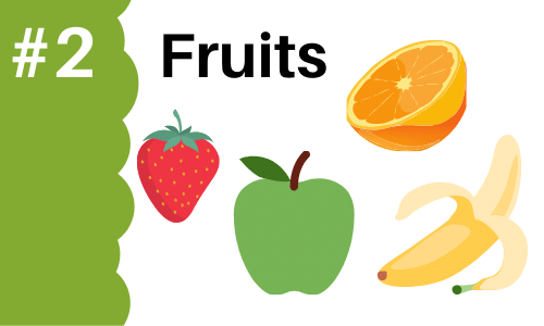Graphic showing fruits to add to smoothies