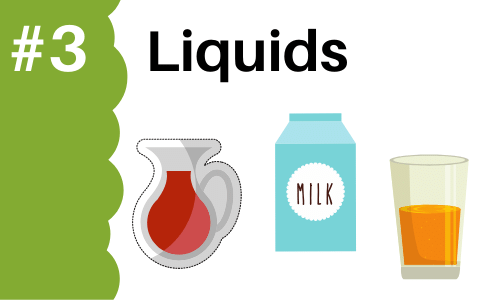 Graphic showing liquids to add to smoothies