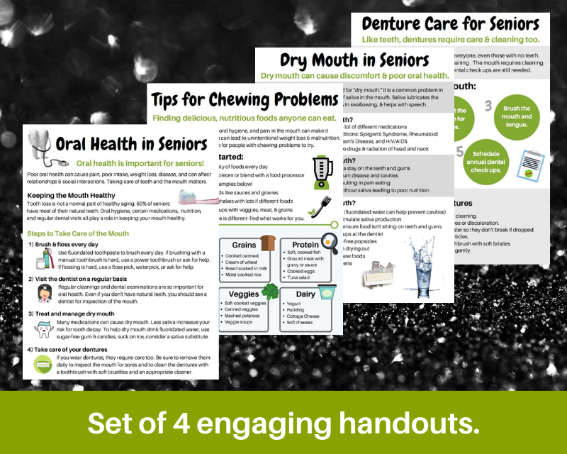 oral health for seniors handouts