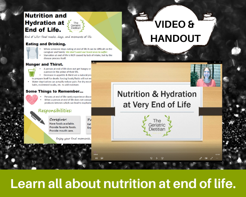 Nutrition at end of life bundle