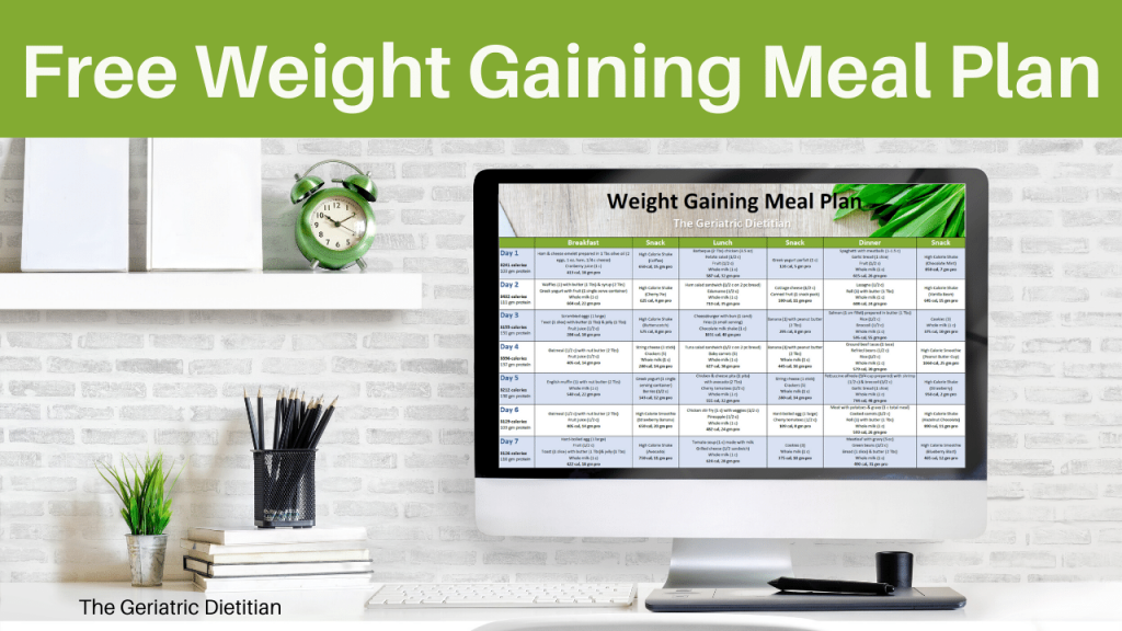 Free Weight Gaining Meal Plan Cover
