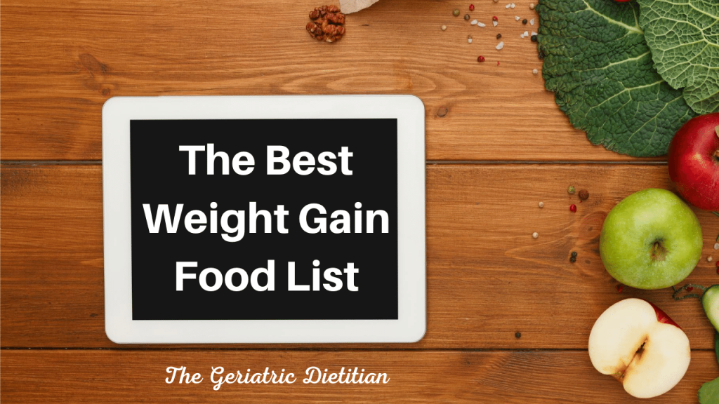The Best Weight Gain Food List