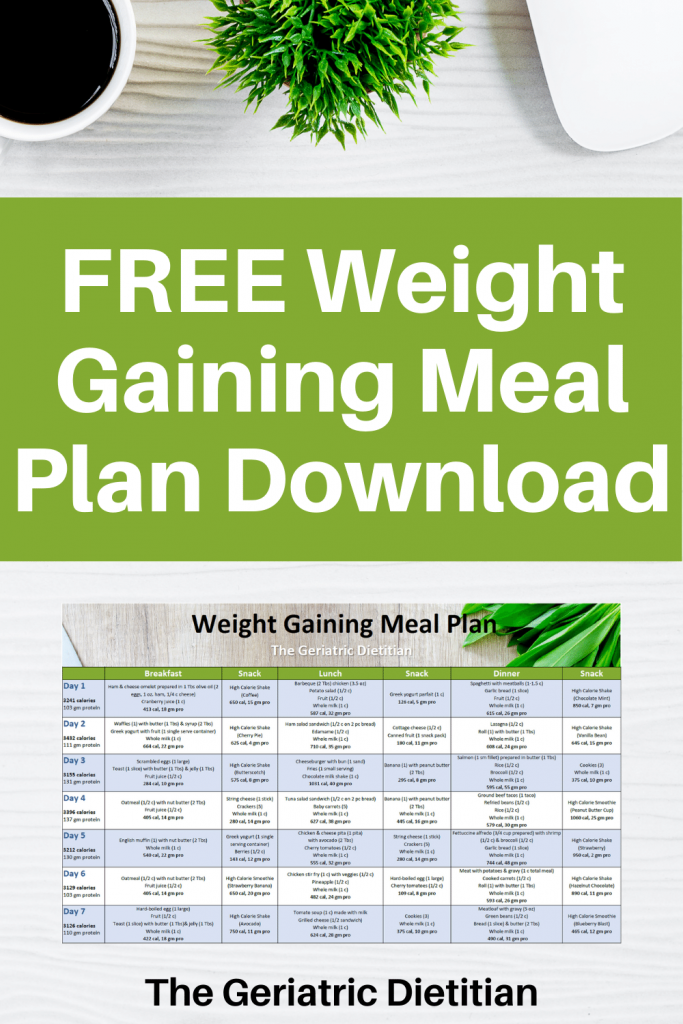 Free Weight Gaining Meal Plan Download