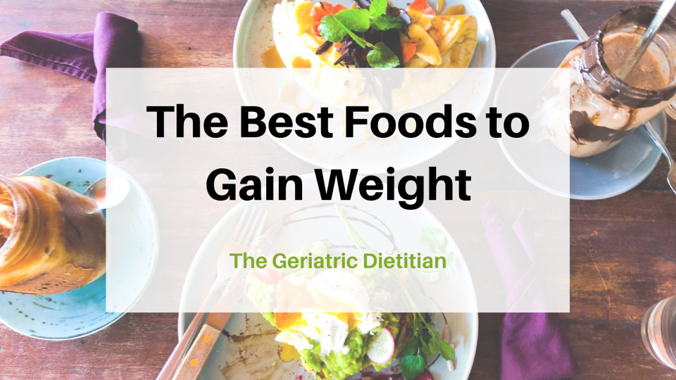 Best Foods to Gain Weight cover
