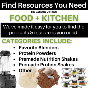 Information on what is found in the Food and Kitchen Resource page