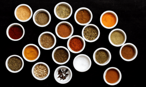 herbs and spices for flavorful foods